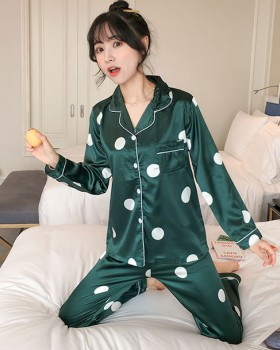 Spring and autumn pajamas sexy night dress a set
