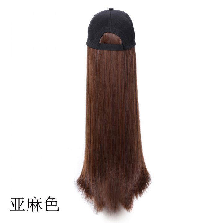 Matte lifelike wig long summer headgear
