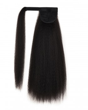 Fluffy velcro wig long horsetail curly hair