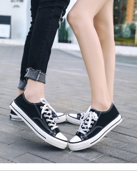 Low student classic cloth shoes couples Casual board shoes