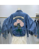 Student all-match coat denim denim jacket for women