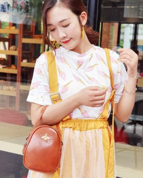 Summer messenger bag oval shoulder bag