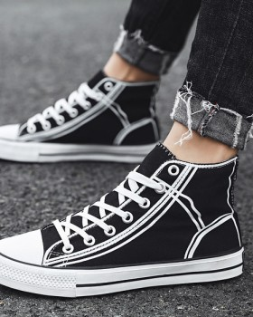 Casual canvas shoes high-heeled board shoes for men