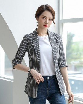 Overalls summer slim coat stripe long business suit
