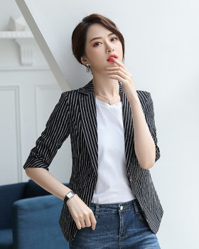 Stripe slim coat all-match profession business suit for women