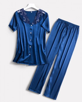 Homewear pajamas long pants 2pcs set for women
