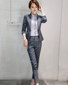 Casual Korean style coat gray business suit a set for women