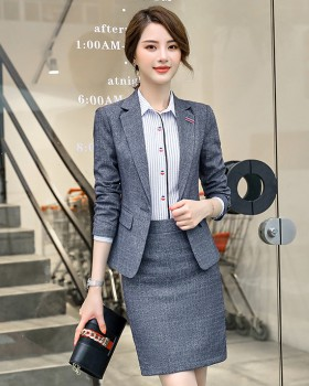 Temperament short skirt business suit 3pcs set