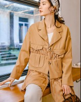 Khaki spring minority coat loose European style business suit