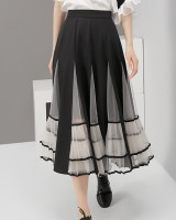 Autumn and winter European style gauze lace skirt for women
