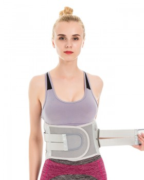 Plastic waist adjustable thermal kidney belt