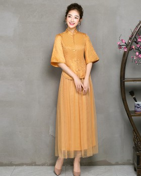 Chinese style evening dress formal dress