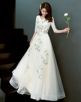 Temperament bridesmaid dress evening dress for women