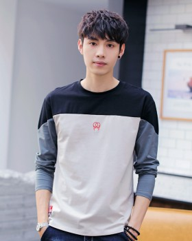 Long sleeve fashion tops youth T-shirt for men