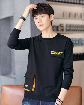 Long sleeve fashion hoodie handsome Casual T-shirt
