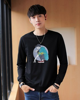 Long sleeve fashion hoodie autumn Casual tops for men