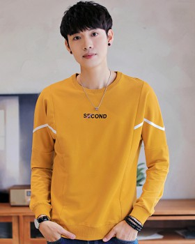 Korean style long sleeve bottoming shirt round neck hoodie