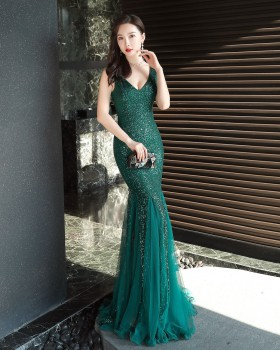 Sequins long evening dress sexy formal dress for women
