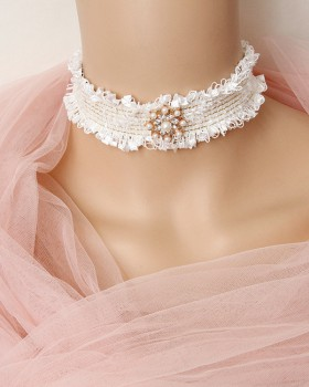 Short clavicle necklace lace accessories for women