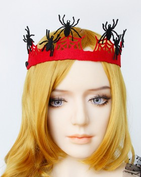 Queen imperial crown spider headwear halloween prom accessories