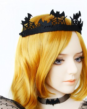 Halloween vampire imperial crown headwear for women