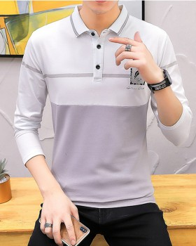 British style feather T-shirt pure cotton shirts for men