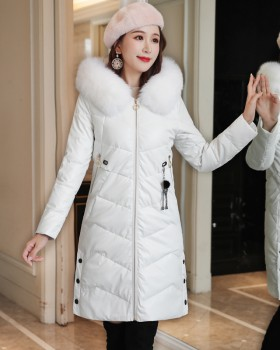 Down winter thick coat Korean style long cotton coat