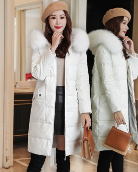 Slim thick coat fox Korean style cotton coat for women