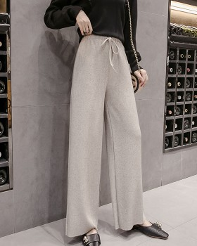 Loose casual pants autumn and winter wide leg pants