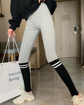 Elasticity wears outside long pants printing sports leggings