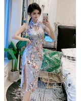 Split long slim dress fashion colors maiden cheongsam