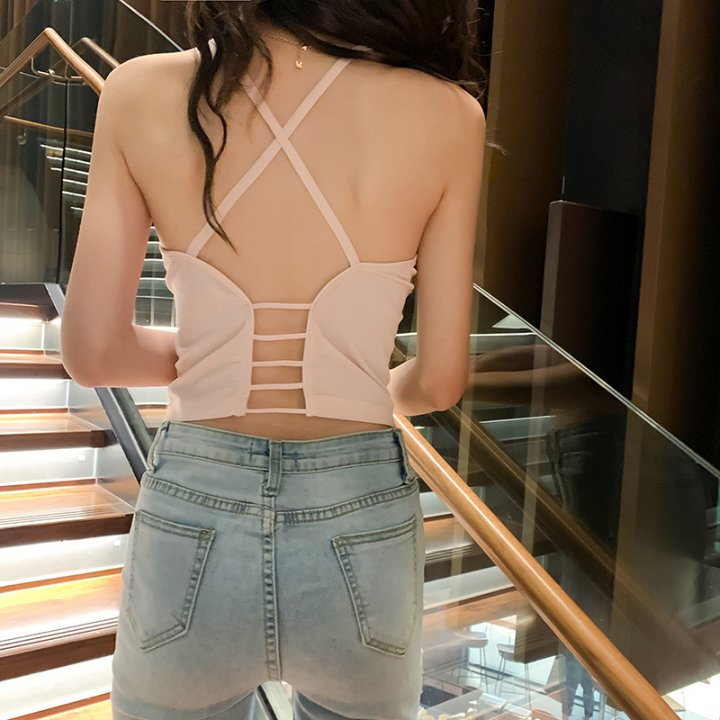 Liangsi sling cross vest wears outside bottoming tops