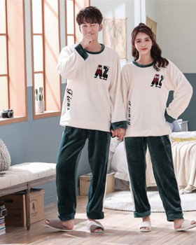 Unisex thin long sleeve autumn and winter pajamas