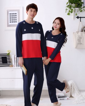 Korean style spring and autumn pajamas for women