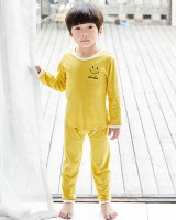 Child long sleeve couples homewear baby pajamas a set