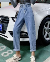 Bud slim harem pants loose denim jeans for women