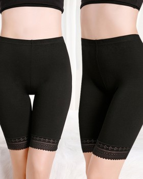 Safety pants summer leggings lace medium waist briefs