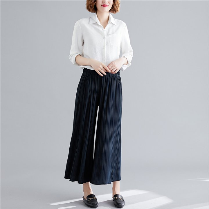 Straight simple pure wide leg pants for women YW69901