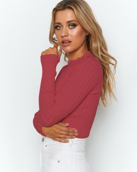 Long sleeve bottoming shirt autumn and winter tops for women