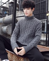 Korean style wool thermal sweater for men