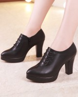 Thick platform spring and autumn footware for women