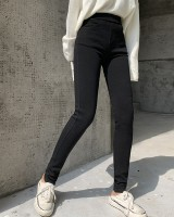 Autumn wears outside leggings slim black pants for women