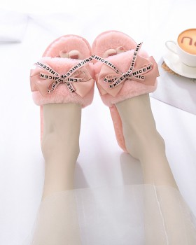 At home summer antiskid bow slippers for women