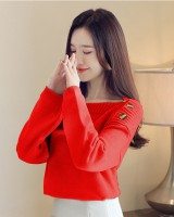 Loose pullover bottoming shirt thick sweater for women