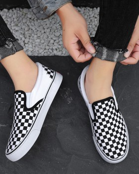 Black-white autumn shoes couples lazy shoes for women