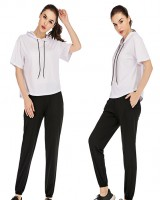 Sunscreen wicking casual wear short sleeve cool pants 2pcs set