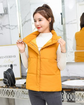 Korean style short coat cotton student bread clothing for women
