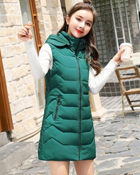Long down cotton autumn and winter loose waistcoat