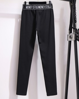 Large yard thin leggings fat bound feet sweatpants