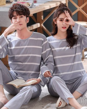 Spring and autumn loose milk silk long sleeve pajamas for women